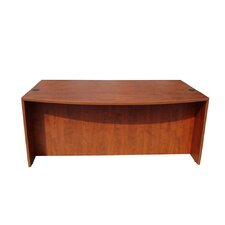 <strong>Boss Office Products</strong> Wood Bow Front Executive Desk Shell