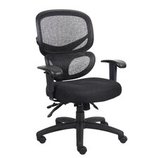 <strong>Boss Office Products</strong> Mid-Back Mesh Multi-Function Task Chair