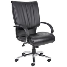 <strong>Boss Office Products</strong> High-Back Leather Plus Executive Chair
