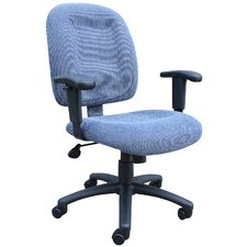 <strong>Boss Office Products</strong> Mid-Back Ergonomic Task Chair with Tilt Tension Control
