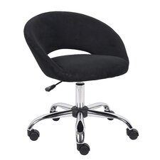 Low-Back Microfiber Chair