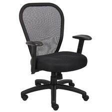<strong>Boss Office Products</strong> High-Back Professional Managers Mesh Chair with Arms
