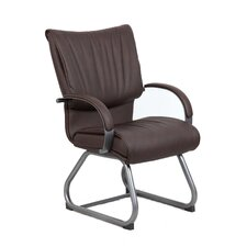 <strong>Boss Office Products</strong> Mid-Back Leatherplus Guest Chair