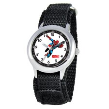 Kid's Spider-Man Time Teacher Watch in Black