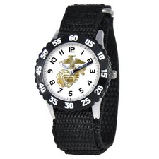 Kid's Military Marines Time Teacher Watch in Black