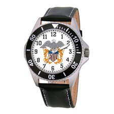 Men's U.S. Navy Honor Leather Strap Watch