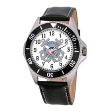 Men's U.S. Coast Guard Honor Leather Strap Watch
