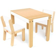 Little One's Kids 3 Piece Table and Chair Set