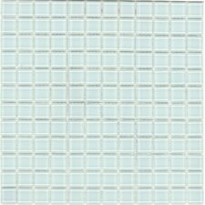 Elida Glass Mosaic in Clear with Hints of Blue and Green