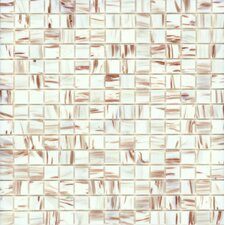 "<strong>Surfaces</strong> Elida Glass 13"" x 13"" Mosaic in  White Bronze"