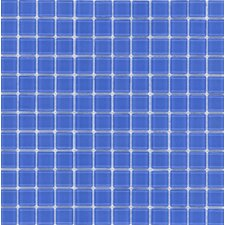 "Elida Glass 12"" x 12"" Mosaic in Indigo Blue"