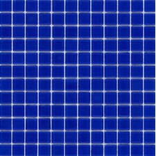 "Elida Glass 12"" x 12"" Mosaic in Royal Blue"