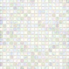 "Elida Glass 13"" x 13"" Mosaic in White Oyster"
