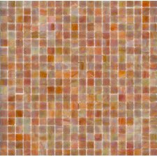 "Elida Glass 13"" x 13"" Mosaic in Coral Reef"