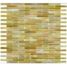 "<strong>Surfaces</strong> Elida Glass 14"" x 13"" Mosaic in Onyx Brick"