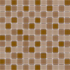 "Elida Glass 12"" x 12"" Mosaic in Bronce Multicolor"