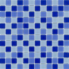 "Elida Glass 12"" x 12"" Mosaic in Blue Multicolor"