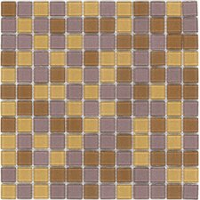 "Elida Glass 12"" x 12"" Mosaic in Gold/Bronce Multicolor"