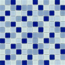 "Elida Glass 12"" x 12"" Mosaic in Light Blue Multicolor"
