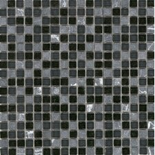 "Elida Glass 12"" x 12"" Mosaic in Marquina Stone"