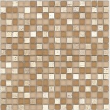"Elida Glass 12"" x 12"" Mosaic in Romano Stone"