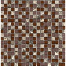 "<strong>Surfaces</strong> Elida Glass 12"" x 12"" Mosaic in Cherry Stone"