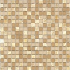 "Elida Glass 12"" x 12"" Mosaic in Butter Stone"