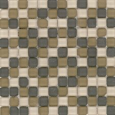 "<strong>Surfaces</strong> Elida Glass 12"" x 12"" Mosaic in Tumbled Natural"