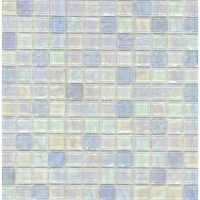 "<strong>Surfaces</strong> Elida Glass 12"" x 12"" Mosaic in Blue Oil"