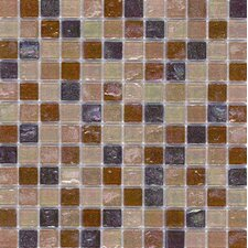 "Elida Glass 12"" x 12"" Mosaic in Tan Oil"