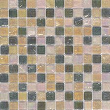"Elida Glass 12"" x 12"" Mosaic in Natural Oil"