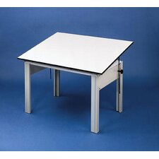 DesignMaster Melamine Office Drafting Table