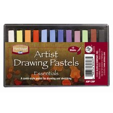 Basic Drawing Pastels (Set of 12)
