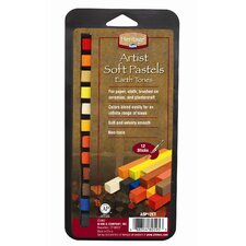 Earth Tone Soft Pastels Set (Set of 12)