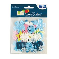 Colorstories Paper Potpourri Flower (Set of 22)