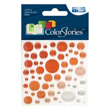 Colorstories Epoxy Color Spots Stickers (Set of 58)