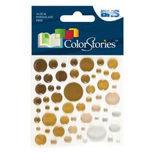 <strong>Alvin and Co.</strong> Colorstories Epoxy Color Spots Stickers (Set of 50)