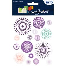 <strong>Alvin and Co.</strong> Colorstories Radial Cardstock Stickers (Set of 16)