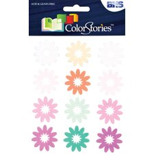 <strong>Alvin and Co.</strong> Colorstories Flocked Daisy Stickers (Set of 12)