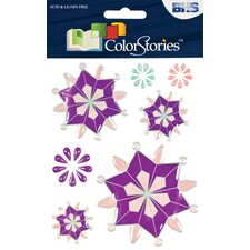 Colorstories Epoxy Snowflower Stickers (Set of 33)