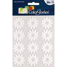Colorstories Flocked Daisy Stickers (Set of 12)