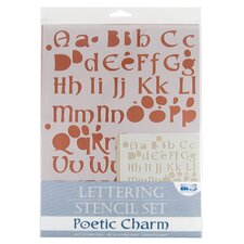 Poetic Charm Lettering Stencil Set