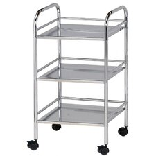 "Storage Cart 29.75"" 3 Shelf Shelving Unit"