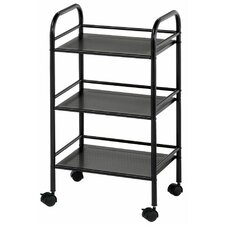 "Mobile Storage Cart 29.75"" H 3 Shelf Shelving Unit"