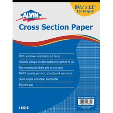 Cross Section Paper Grid Pad (Set of 50)