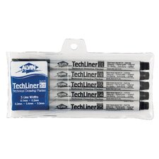 Technical Drawing Marker (Set of 5)