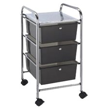 Blue Hills Studio Storage Cart with Three Smoke Color Drawers
