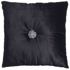Cluster Black Polyester Filled Cushion