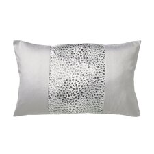 Leopard Filled Boudoir Cushion in Silver
