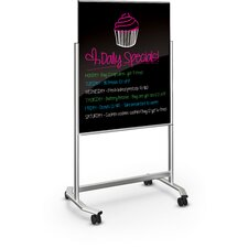 Visionary Move Mobile Glass Whiteboard